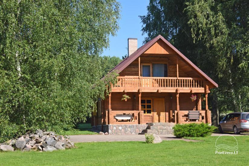 46 – Rąstinis namelis su visais patogumais 4-6 asmenų šeimos poilsiui