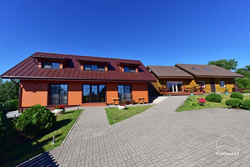 Svečių namai Trakuose PANORAMA – kambariai, apartamentai, salė, pirtis kiemas su vaizdu į Trakų pilį - 14