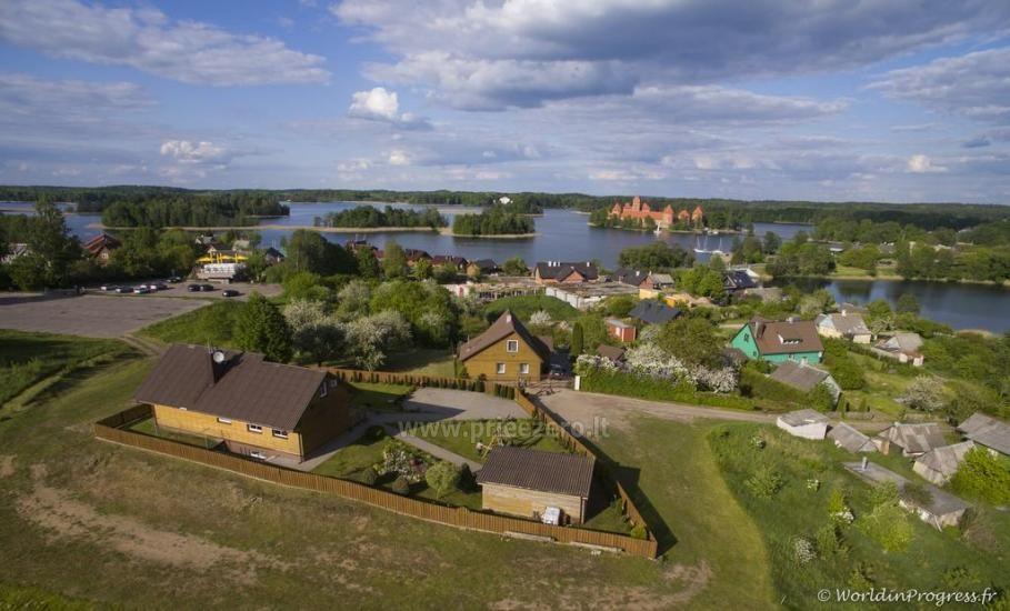 Svečių namai Trakuose PANORAMA – kambariai, apartamentai, salė, pirtis kiemas su vaizdu į Trakų pilį - 17
