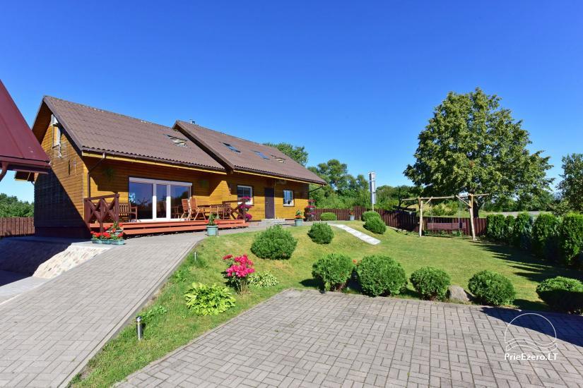 Svečių namai Trakuose PANORAMA – kambariai, apartamentai, salė, pirtis kiemas su vaizdu į Trakų pilį - 4