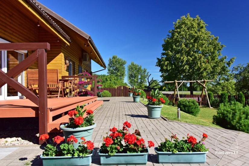 Svečių namai Trakuose PANORAMA – kambariai, apartamentai, salė, pirtis kiemas su vaizdu į Trakų pilį - 5