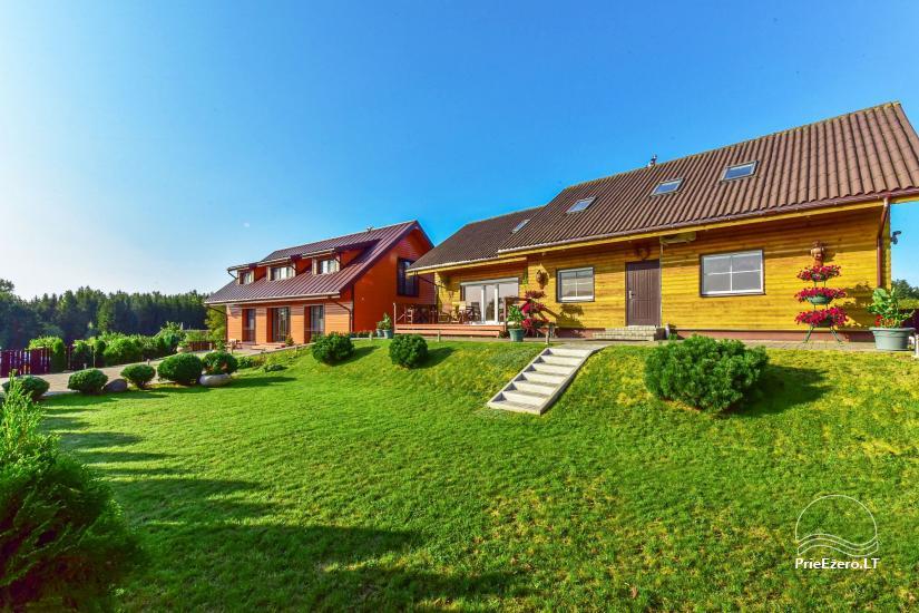 Svečių namai Trakuose PANORAMA – kambariai, apartamentai, salė, pirtis kiemas su vaizdu į Trakų pilį - 15