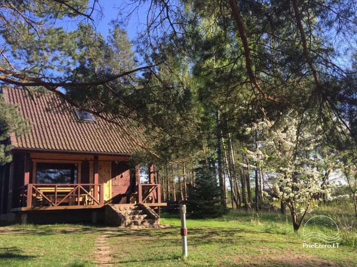 Rąstinis namelis ant Bebrusų ežero kranto - 1