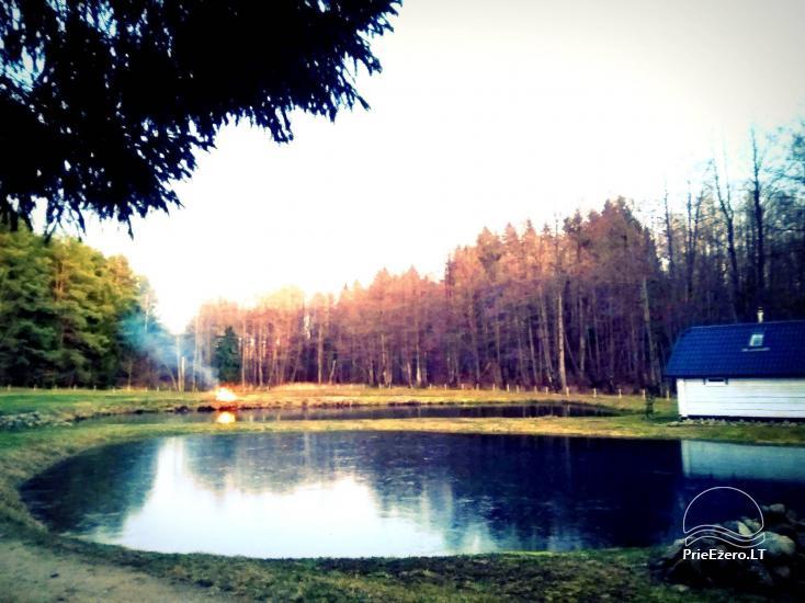 Baltoji sodyba tarp tvenkinių ir upelio - 9