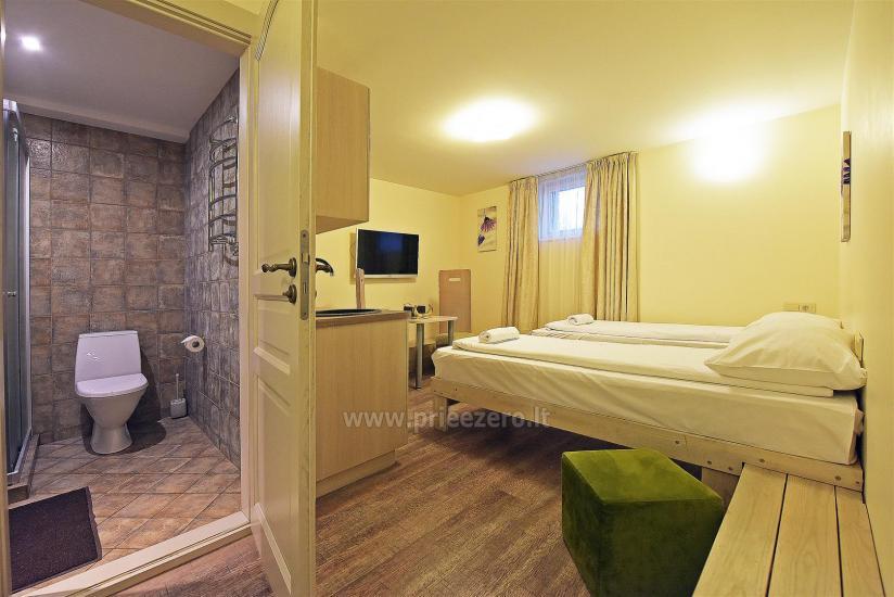 KUBU svečių namai Klaipėdoje. Moderniai įrengti apartamentai, yra sukūrinė vonia, pirtis - 26
