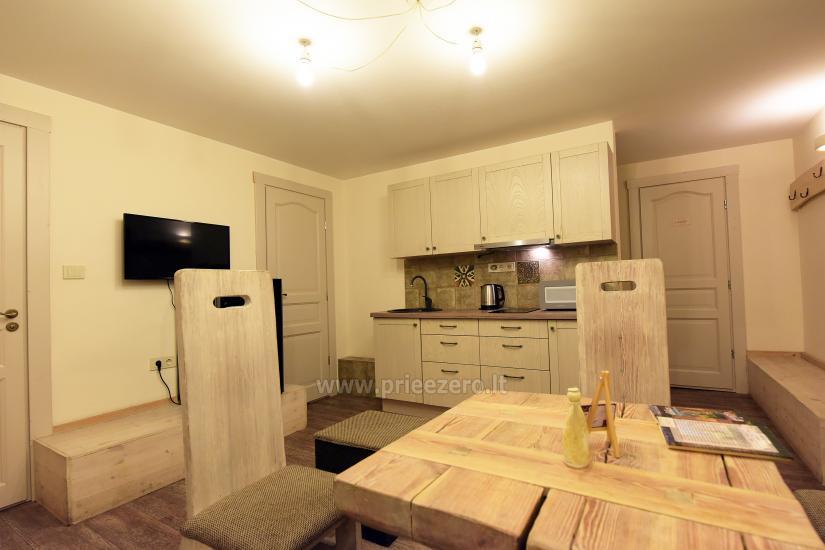 KUBU svečių namai Klaipėdoje. Moderniai įrengti apartamentai, yra sukūrinė vonia, pirtis - 31