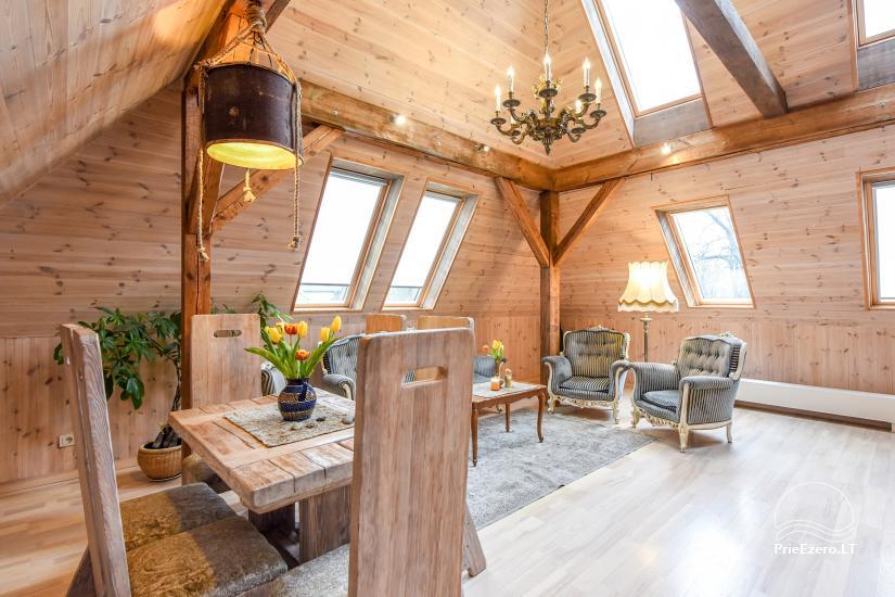KUBU svečių namai Klaipėdoje. Moderniai įrengti apartamentai, yra sukūrinė vonia, pirtis - 34