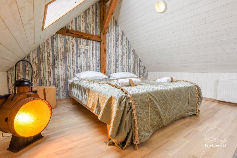 KUBU svečių namai Klaipėdoje. Moderniai įrengti apartamentai, yra sukūrinė vonia, pirtis - 43