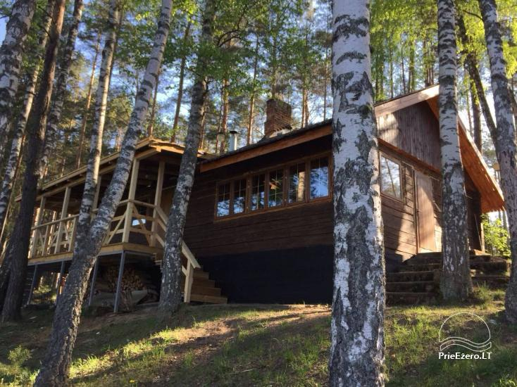 Poilsio namai 40 km nuo Vilniaus centro, prie Pailgio ežero - 1