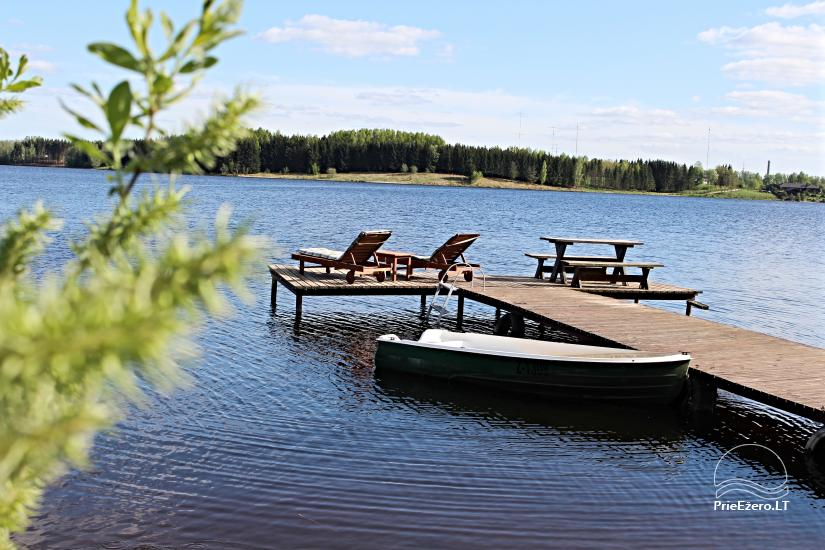 """Namelis su pirtimi ant ežero kranto """"Autentiškas poilsis tik Tau"""" - 1"""