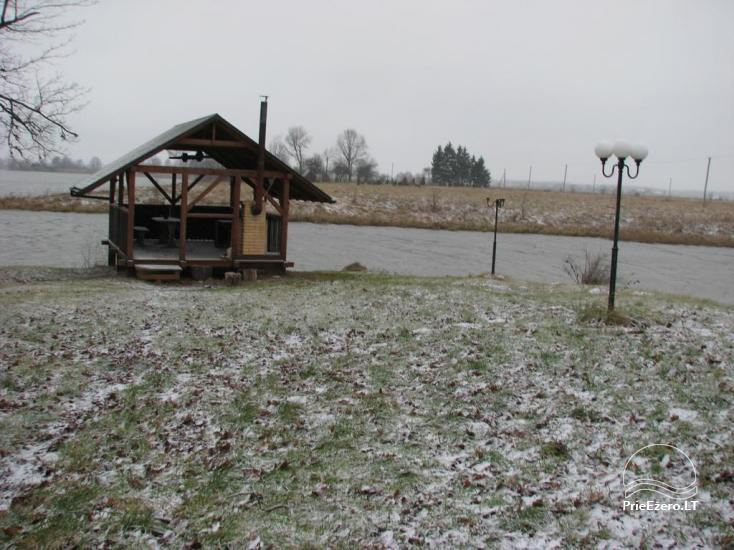 Sodybos nuoma Jurbarko rajone su nedideliu ežeru kieme - 7