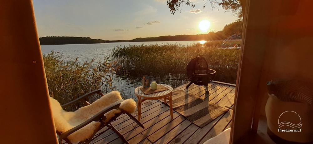 Nameliai dviems prie ežero (šildomomis grindimis),namukas su kadagine sauna, kubilas-jaccuzi - 6