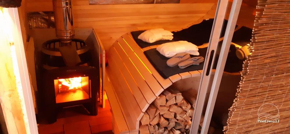 Nameliai dviems prie ežero (šildomomis grindimis),namukas su kadagine sauna, kubilas-jaccuzi - 4