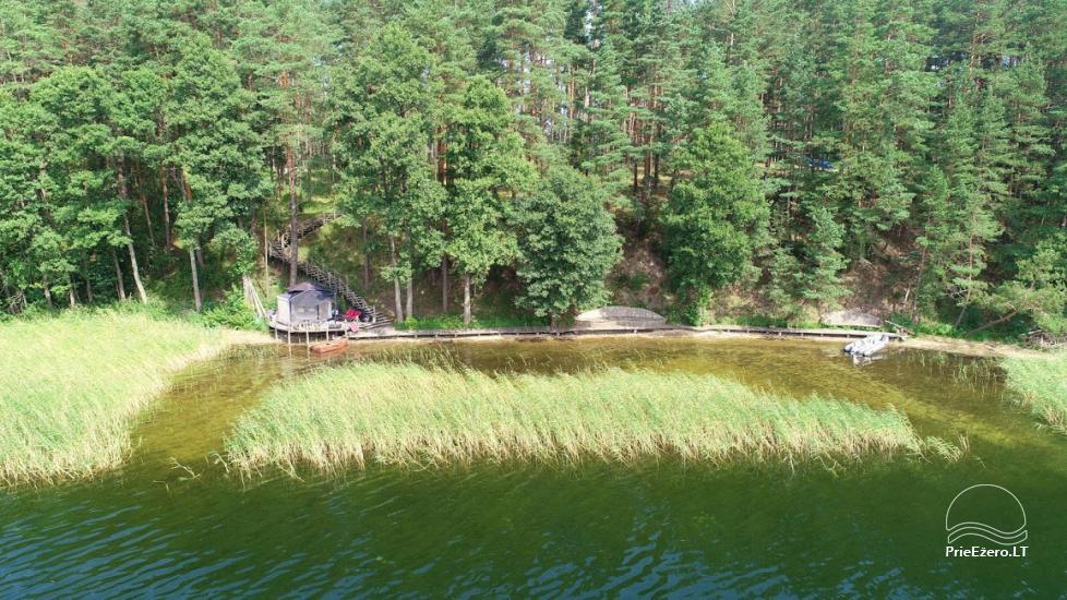 Namelis dviems prie ežero (šildomom grindim), romantiška nakvynė, žvejyba - 10