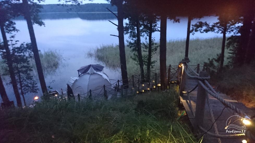 Namelis dviems prie ežero (šildomom grindim), romantiška nakvynė, žvejyba - 7