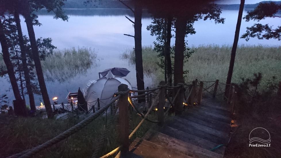 Namelis dviems prie ežero (šildomom grindim), romantiška nakvynė, žvejyba - 9
