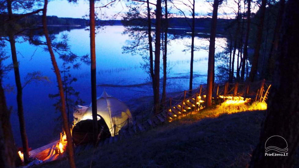 Nameliai dviems prie ežero (šildomomis grindimis), romantiška nakvynė, žvejyba - 9