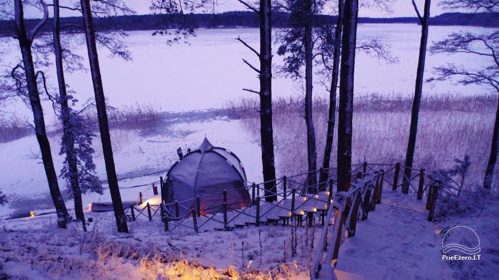 Nameliai dviems prie ežero (šildomomis grindimis),namukas su kadagine sauna, kubilas-jaccuzi - 9