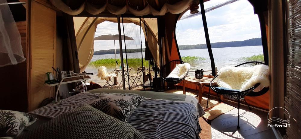 Nameliai dviems prie ežero (šildomomis grindimis), romantiška nakvynė, žvejyba - 1