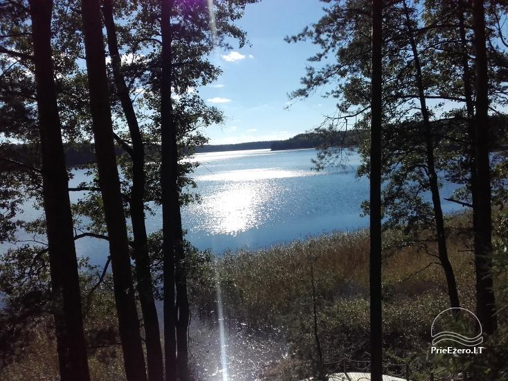 Nameliai dviems prie ežero (šildomomis grindimis), romantiška nakvynė, žvejyba - 11