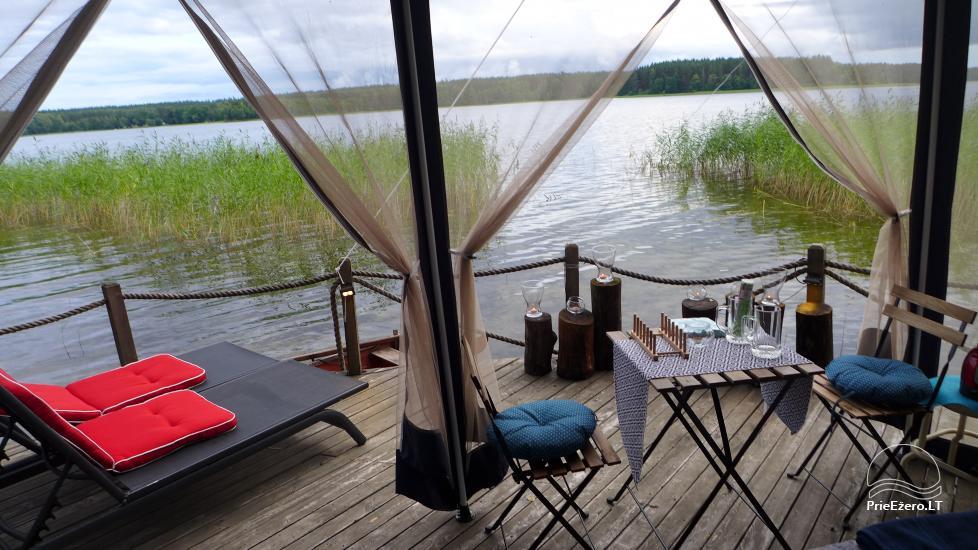 Namelis dviems prie ežero (šildomom grindim), romantiška nakvynė, žvejyba - 4