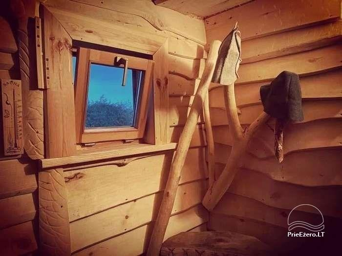 Jaurų namelis su pirtimi Molėtų rajone - 9