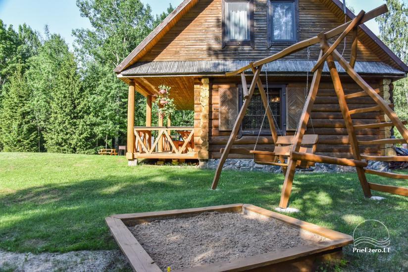 """Rąstinis namas ir pirtis prie Auslo ežero Zarasų rajone – sodyba """"AUSLA"""" - 9"""
