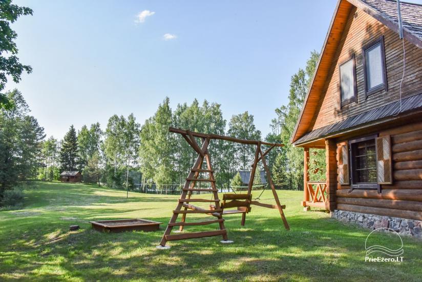 """Rąstinis namas ir pirtis prie Auslo ežero Zarasų rajone – sodyba """"AUSLA"""" - 8"""