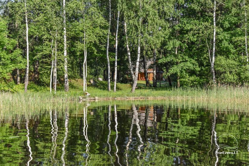 """Rąstinis namas ir pirtis prie Auslo ežero Zarasų rajone – sodyba """"AUSLA"""" - 52"""