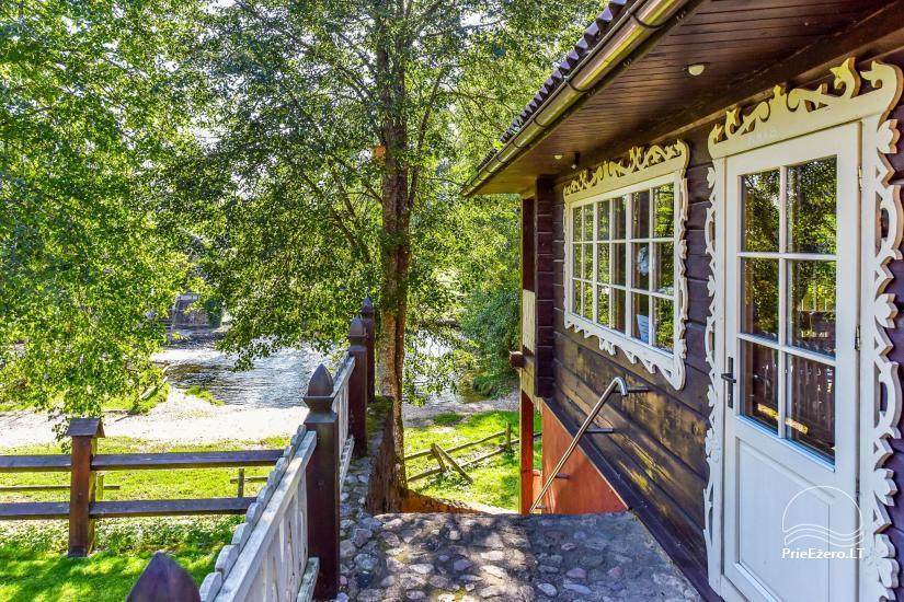 """Poilsio namai """"Srovenos krantas"""" Ignalinos rajone prie Srovenos upės ir Srovinaičio ežero - 10"""