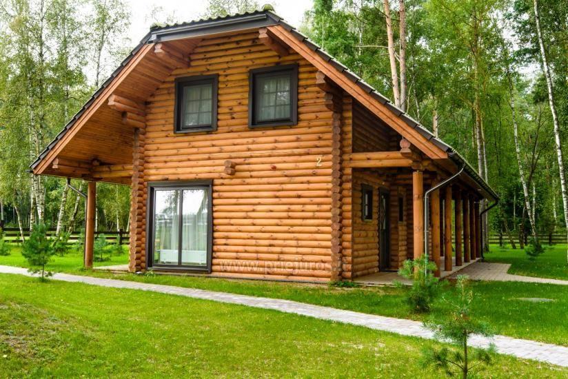 Rąstiniai nameliai, vilos prie Palangos - Atostogų parkas - 1