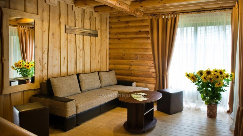 Rąstiniai nameliai, vilos prie Palangos - Atostogų parkas - 9
