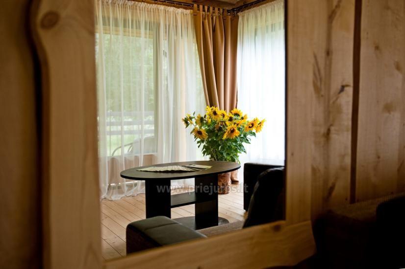 Rąstiniai nameliai, vilos prie Palangos - Atostogų parkas - 11