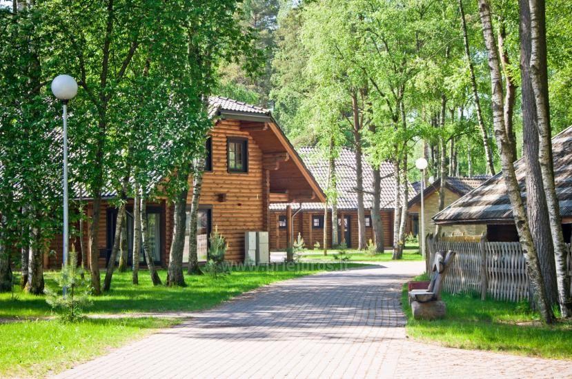 Rąstiniai nameliai, vilos prie Palangos - Atostogų parkas - 14
