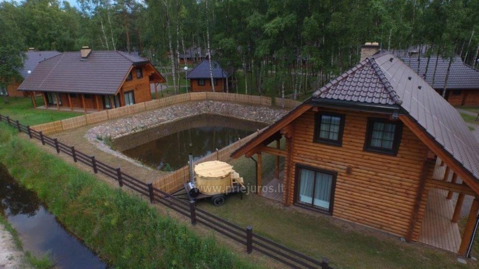 Rąstiniai nameliai, vilos prie Palangos - Atostogų parkas - 16