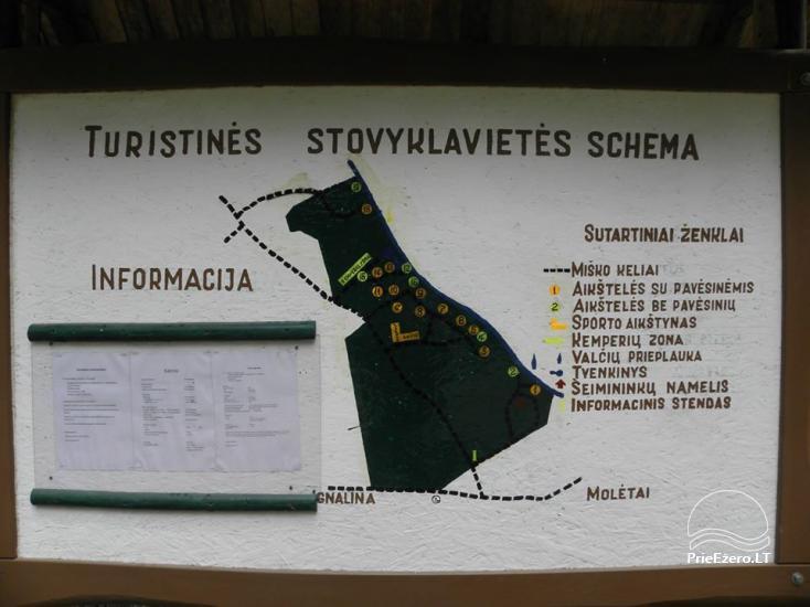Stovyklavietė Siesartis: namelių nuoma, vietos palapinėms, kemperiams - 37