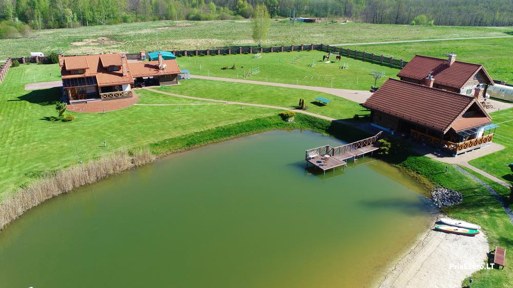 Sodyba Vilniaus r. ant Mūšios ežero kranto Skliausčių laisvalaikio centras: žirgai, smėlio pliažas, daug pramogų šeimai - 41