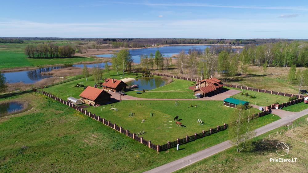 Sodyba Vilniaus r. ant Mūšios ežero kranto Skliausčių laisvalaikio centras: žirgai, smėlio pliažas, daug pramogų šeimai - 2