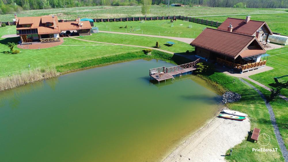 Sodyba Vilniaus r. ant Mūšios ežero kranto Skliausčių laisvalaikio centras: žirgai, smėlio pliažas, daug pramogų šeimai - 39