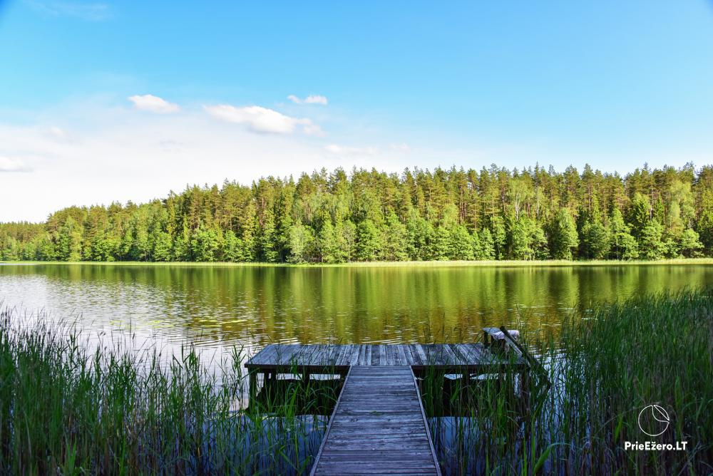 Poilsio nameliai dviems ant Žeimenio ežero kranto - 19