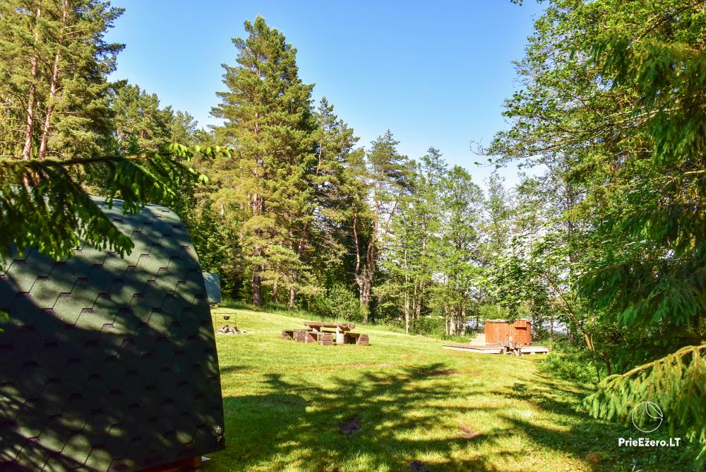 Poilsio nameliai dviems ant Žeimenio ežero kranto - 13