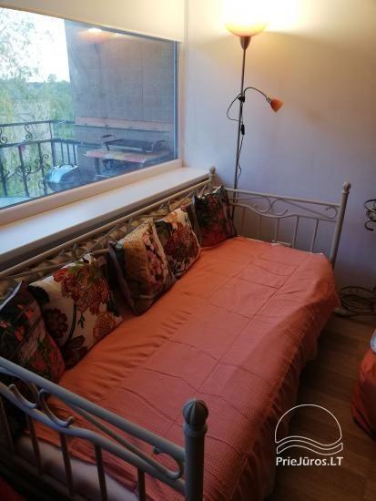 Nuomojamas modernus butas Rusnėje su terasa (iki 6 svečių). Miestelis tinka žvejybai - 10