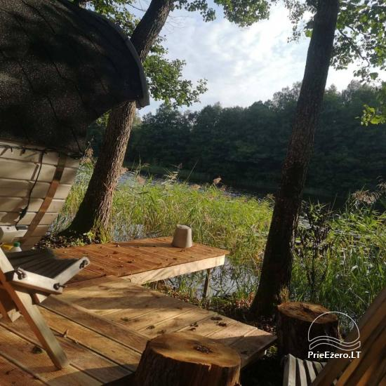 Pirties ir kupolinių namelių nuoma ant ežero kranto - 6