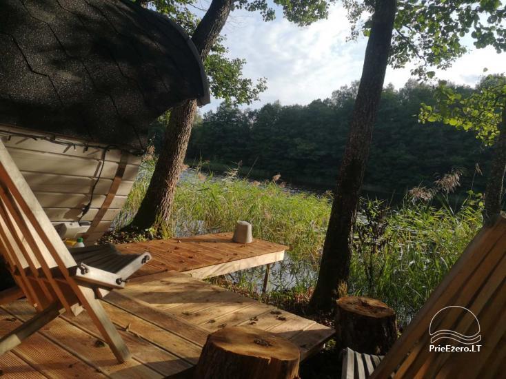 Pirties ir kupolinių namelių nuoma ant ežero kranto - 5
