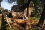 Pirties ir kupolinių namelių nuoma ant ežero kranto