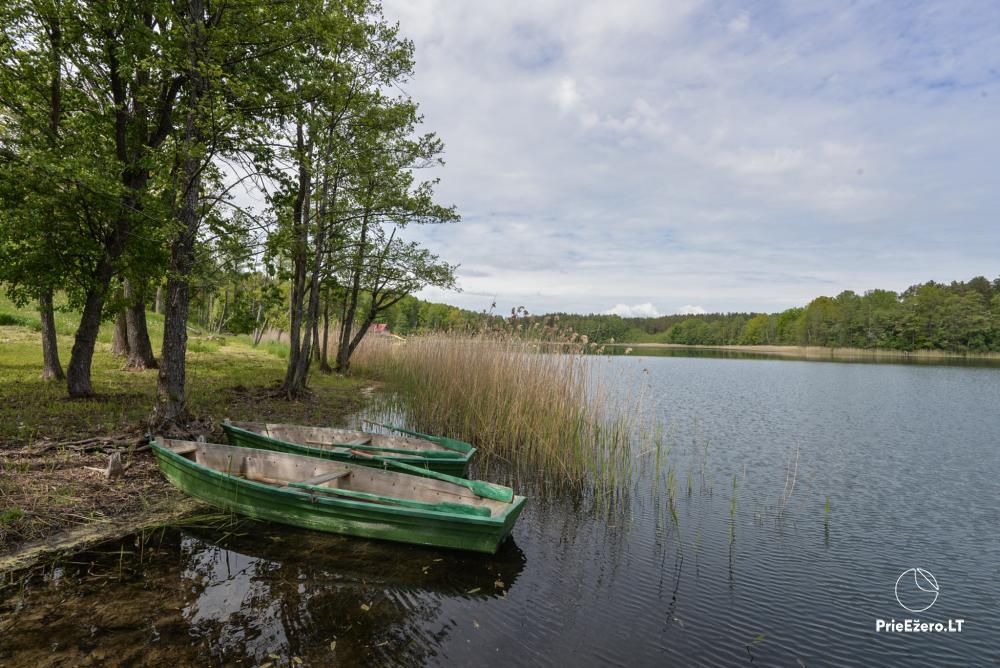 Privati valda Lazdijų raj. prie Gailieko ež. Sandų sodyba-pirtis, kubilas, valtys - 40