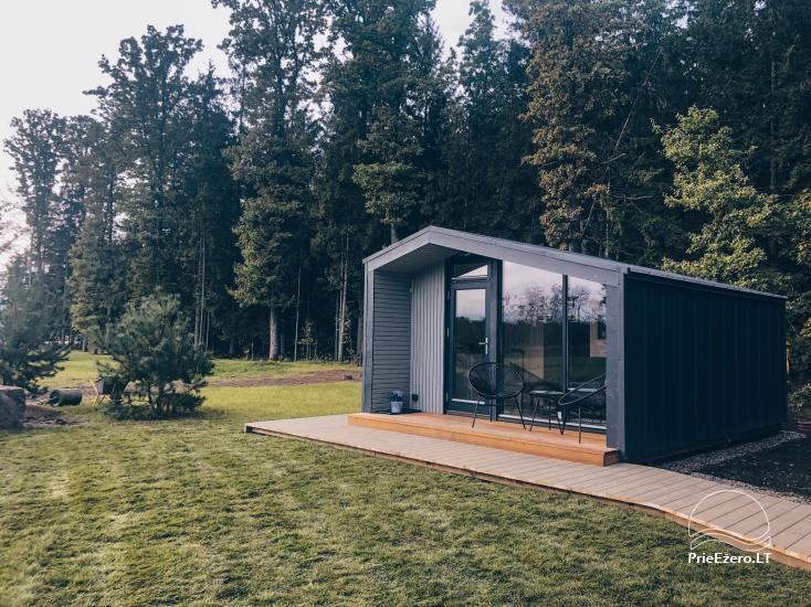 16 m2 ploto šiltas namelis, pritaikytas gyventi ir žiemą, karantino metu - 19
