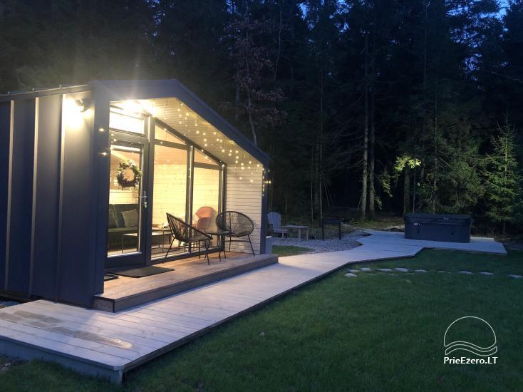 16 m2 ploto šiltas namelis, pritaikytas gyventi ir žiemą, karantino metu - 17