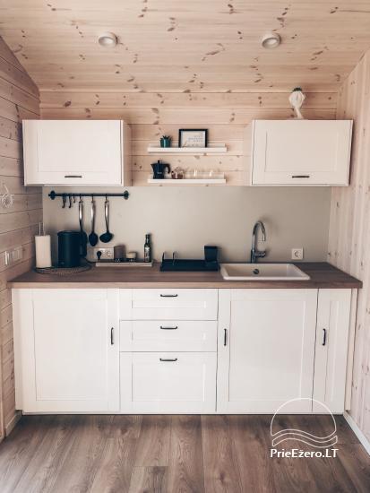 16 m2 ploto šiltas namelis, pritaikytas gyventi ir žiemą, karantino metu - 9