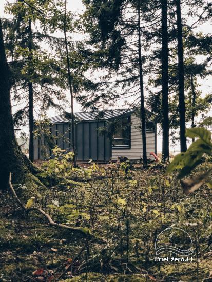 16 m2 ploto šiltas namelis, pritaikytas gyventi ir žiemą, karantino metu - 12